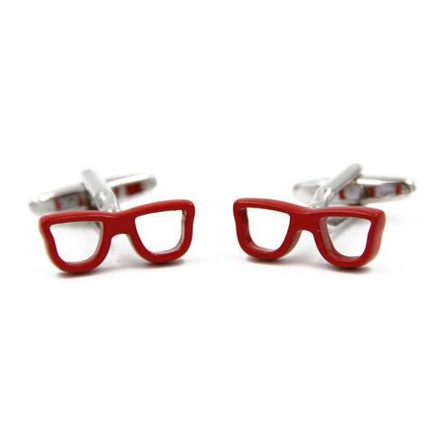 Manžetové gombíky červené okuliare - 3