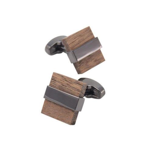 Manžetové gombíky drevo štvorček - 3