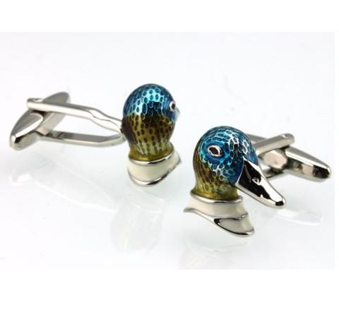 Manžetové gombíky kačička mandarínska - 3