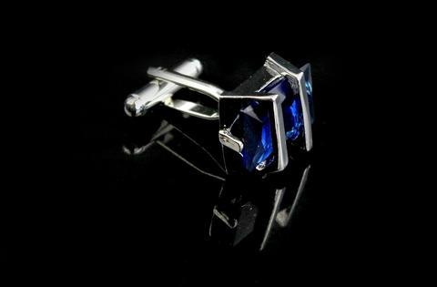 Manžetové gombíky Gemstone modrý - 3