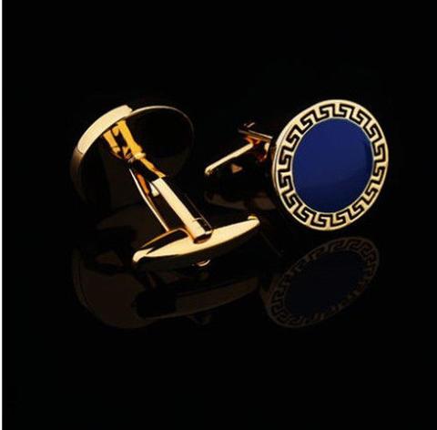 Manžetové gombíky grécky znak modré - 3