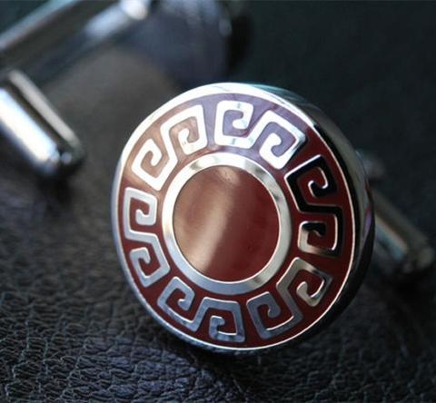 Manžetové gombíky grécky znak okrúhle - 3