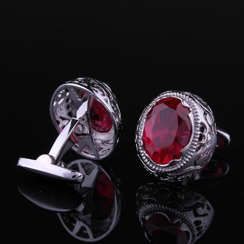 Manžetové gombíky rubínové oko - 3