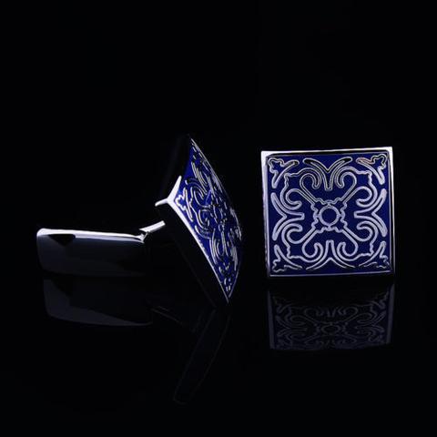 Manžetové gombíky svadobné modré - 3