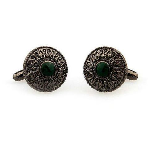 Manžetové gombíky zelené oko - 3