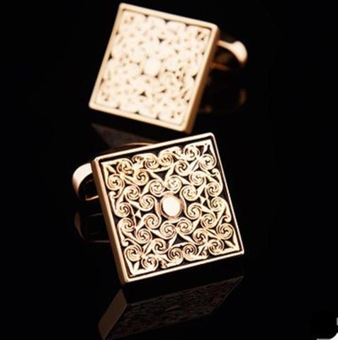 Manžetové gombíky luxusné zlatý ornament - 3