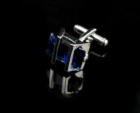 Manžetové gombíky Gemstone modrý - 4