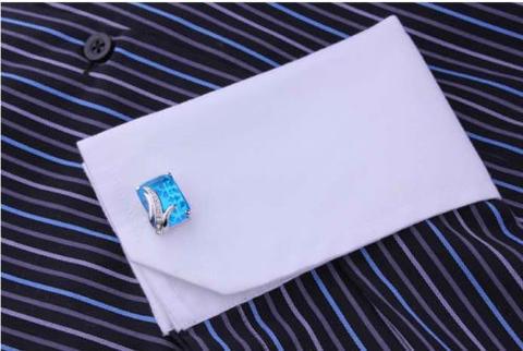 Manžetové gombíky modrý kryštál - 4