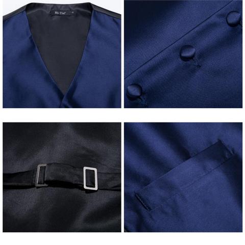 Modrá vesta k obleku s doplnkami - 4