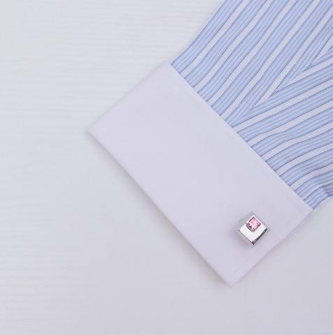 Oceľové manžetové gombíky s kravatovou sponou Arkansas - 4