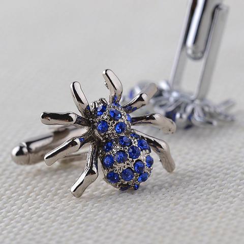 Manžetové gombíky modrý pavúčik - 5